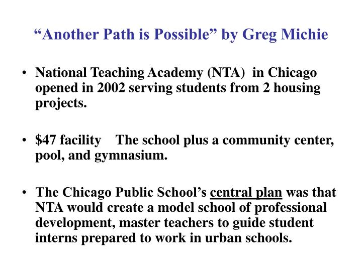 another path is possible by greg michie n.