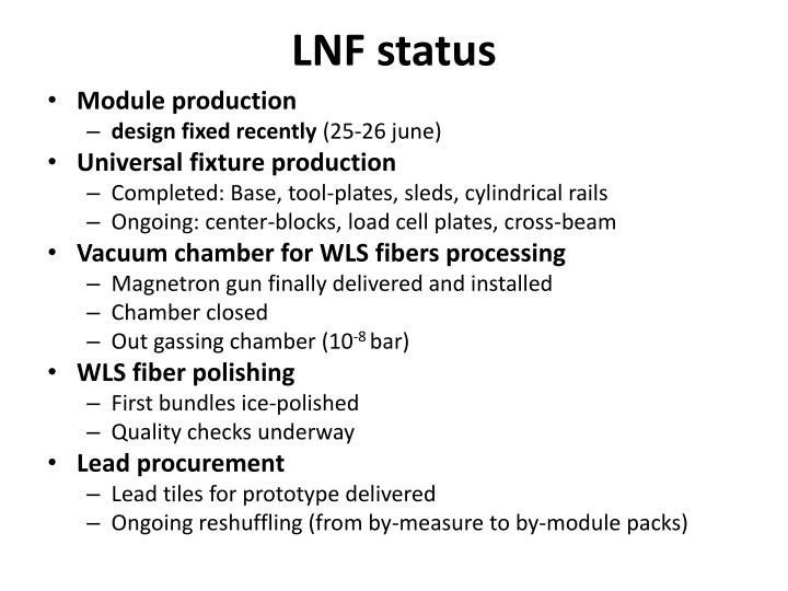 Lnf status