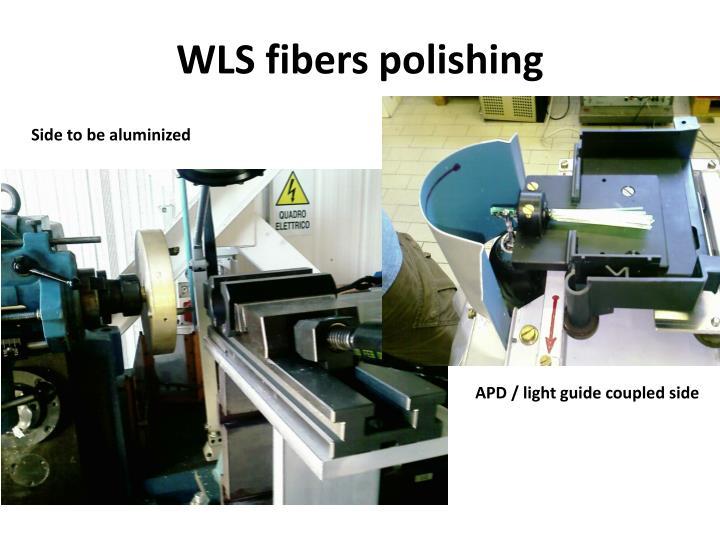 WLS fibers polishing