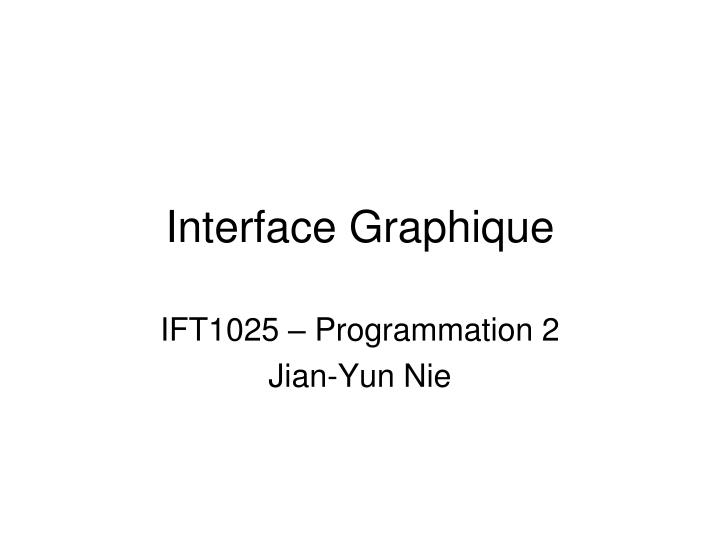 interface graphique n.