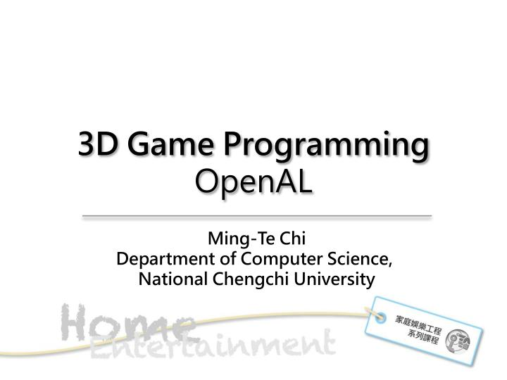 3d game programming openal n.