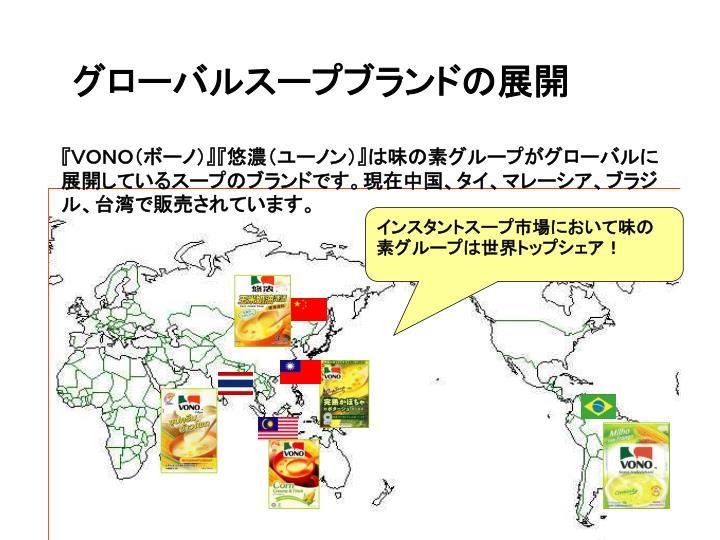 グローバルスープブランドの展開