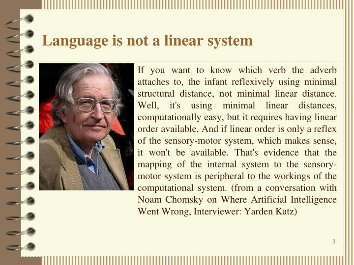 Language is not a linear system