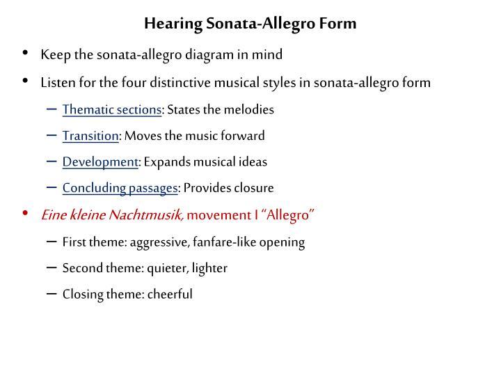 Sonata Allegro Form  Sonata Allegro Form