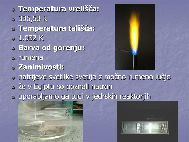 Temperatura vrelišča: