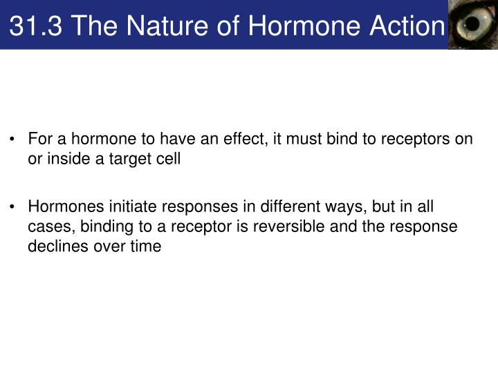 31.3 The Nature of Hormone Action