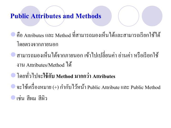 Public Attributes and