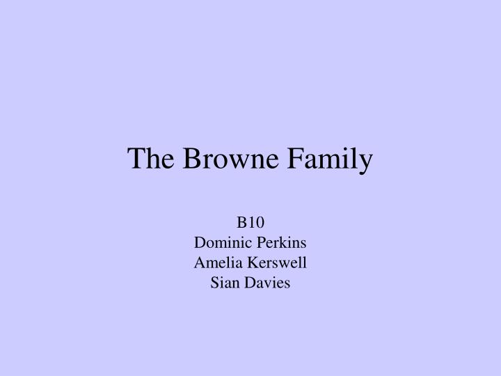 the browne family n.