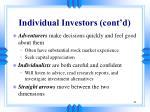 individual investors cont d1