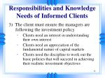responsibilities and knowledge needs of informed clients2