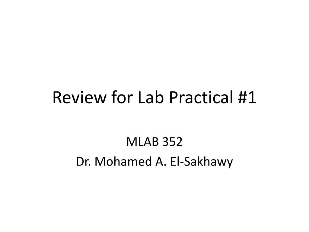 PPT - Review for Lab Practical #1 PowerPoint Presentation