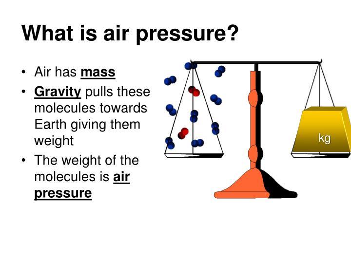 What is air pressure1