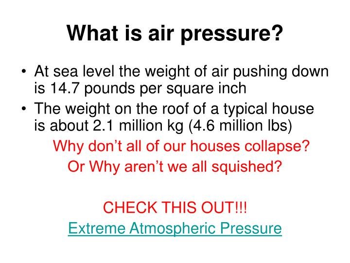 What is air pressure?