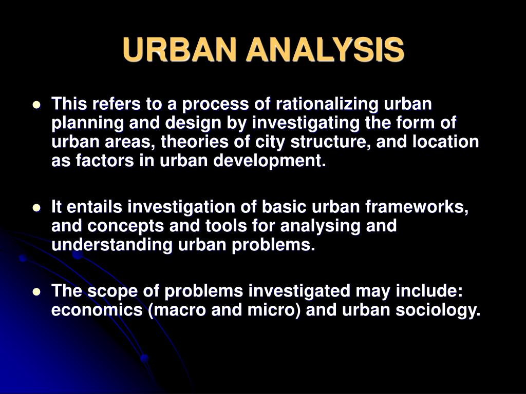 PPT - URBAN ANALYSIS PowerPoint Presentation - ID:6099886