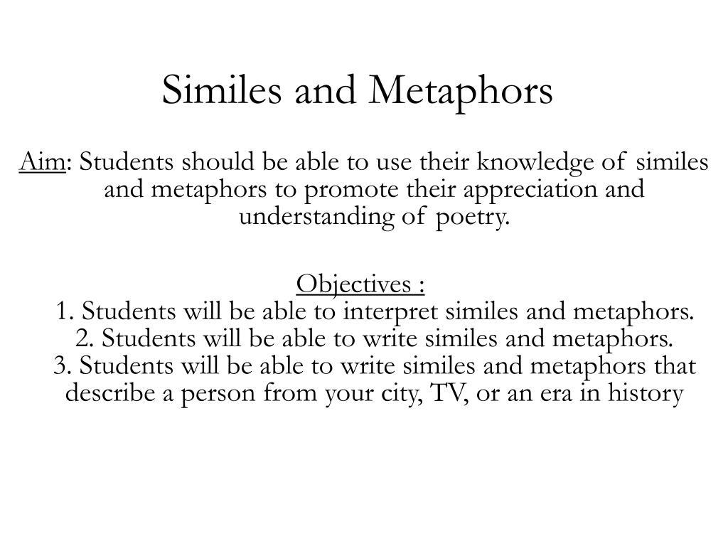 Similes And Metaphors N