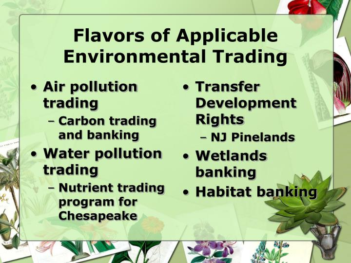 Air pollution trading