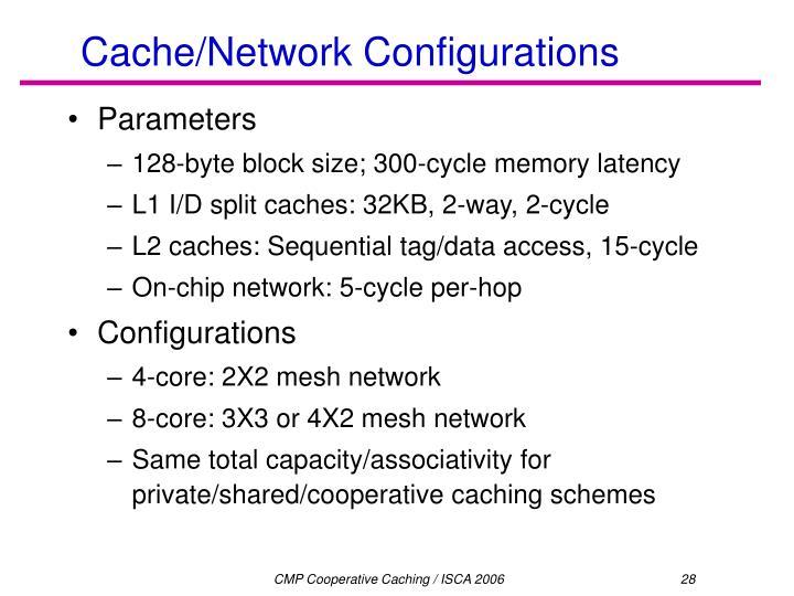 Cache/Network Configurations
