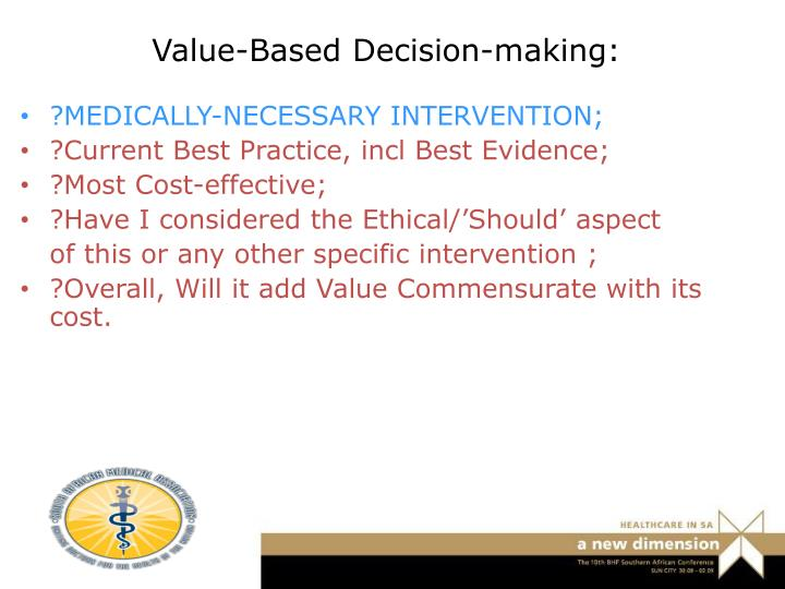 Value-Based Decision-making: