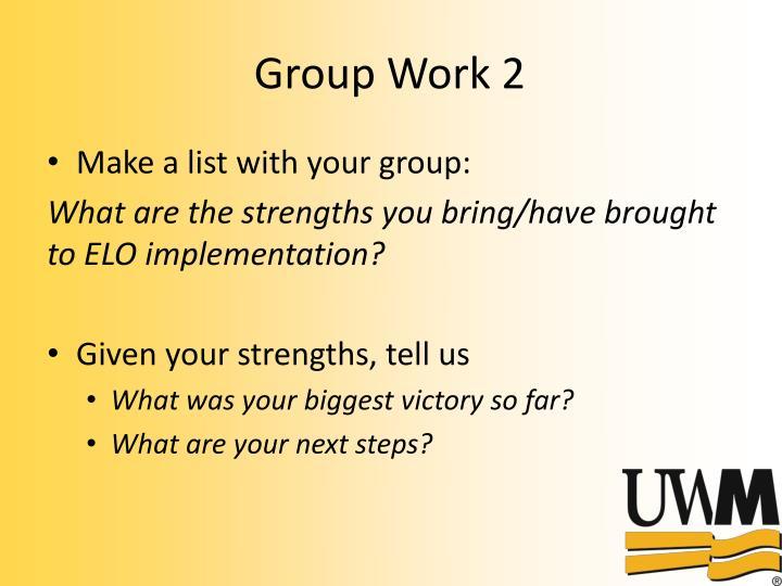 Group Work 2