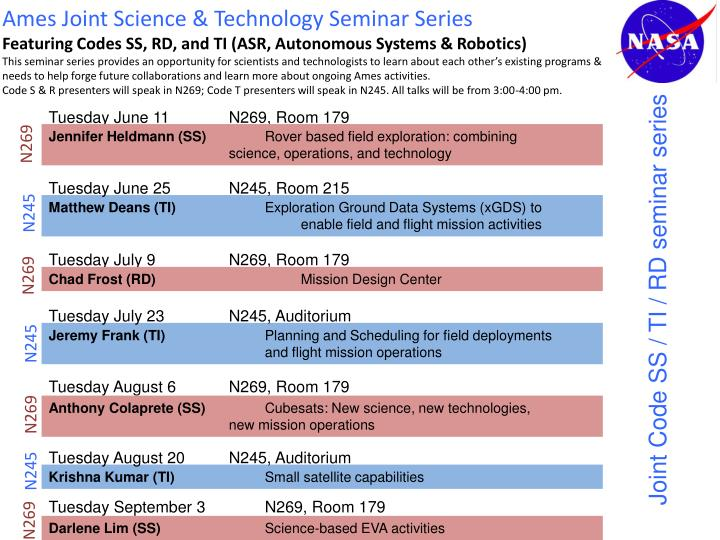 PPT - Ames Joint Science & Technology Seminar Series