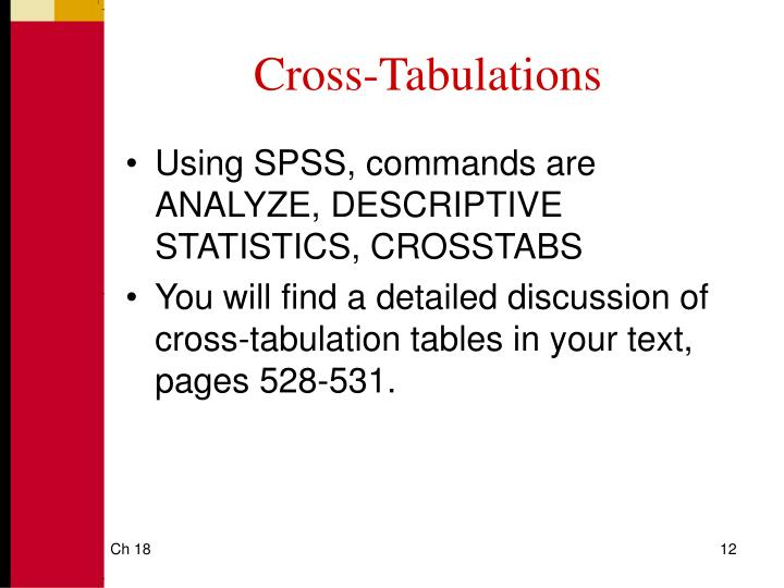 Cross-Tabulations