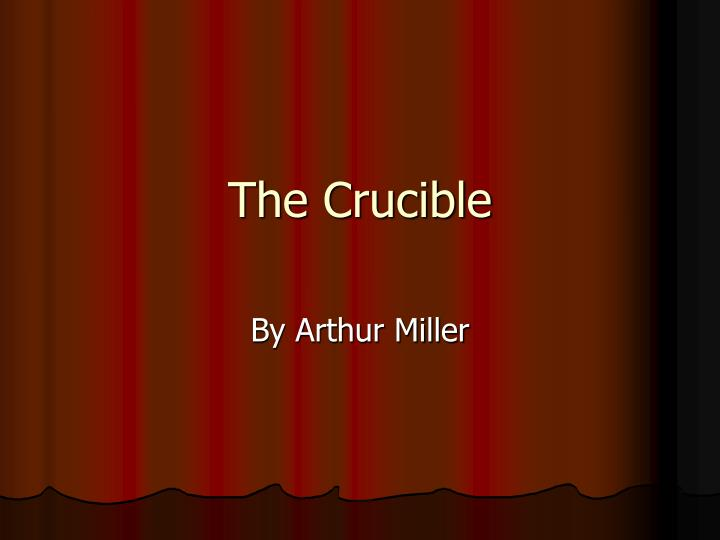 belonging in the crucible essay Belonging can be defined as the process of the association with the human race as socially active characters it is part of the human condition which.