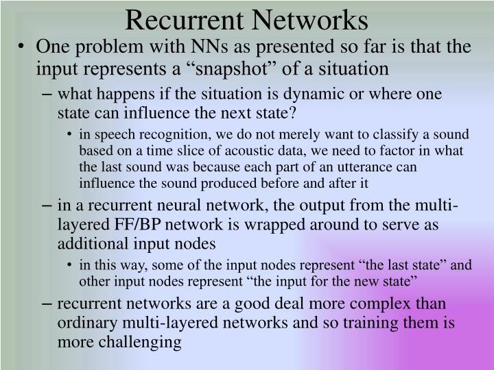 Recurrent Networks
