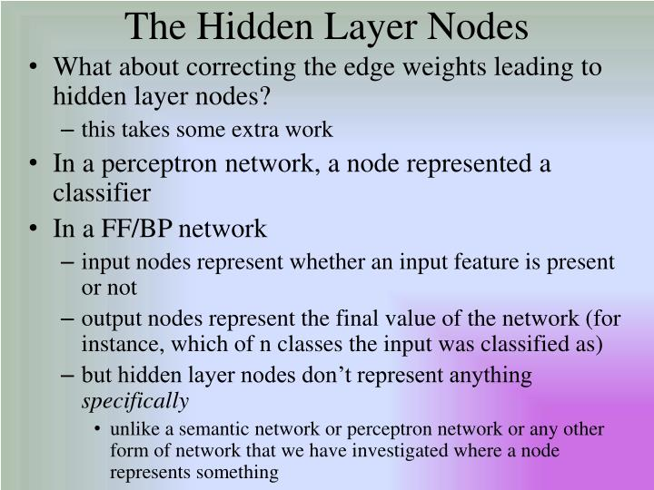 The Hidden Layer Nodes