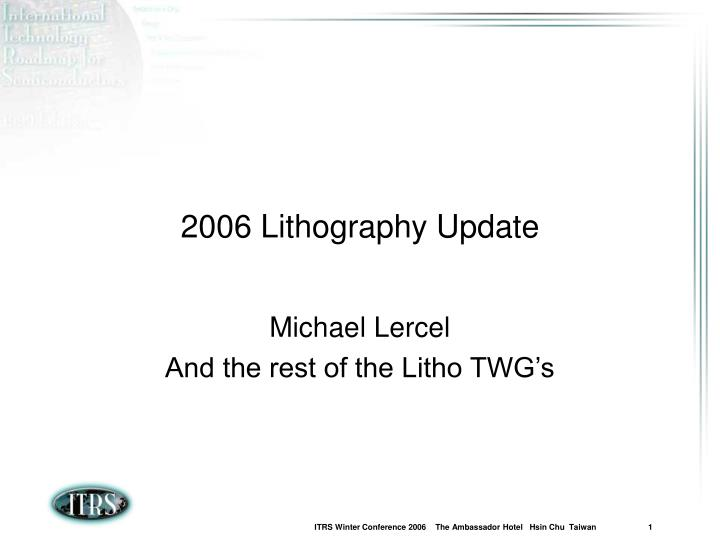 2006 lithography update n.
