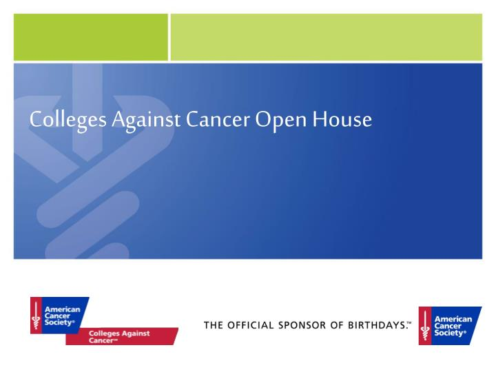 colleges against cancer open house n.