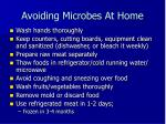 avoiding microbes at home