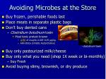 avoiding microbes at the store