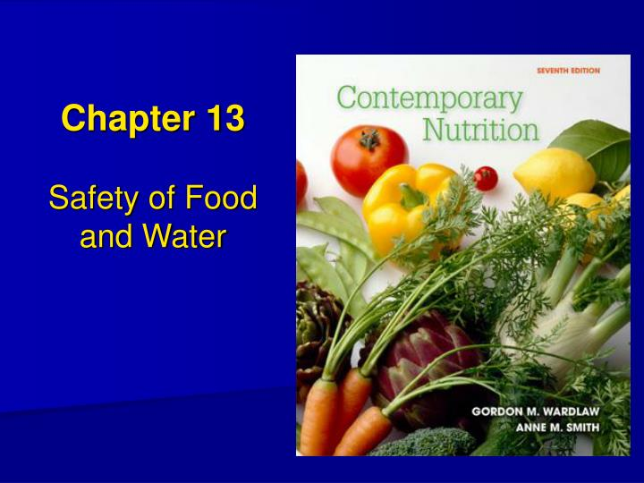 chapter 13 safety of food and water n.