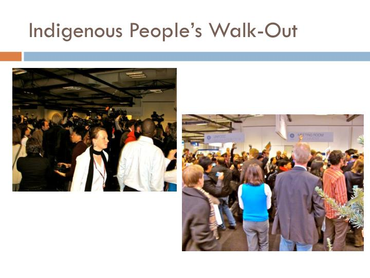 Indigenous People's Walk-Out