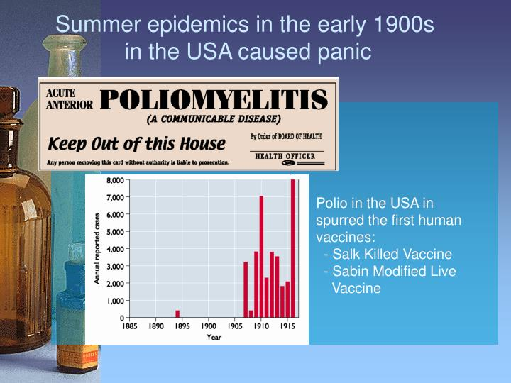 Summer epidemics in the early 1900s