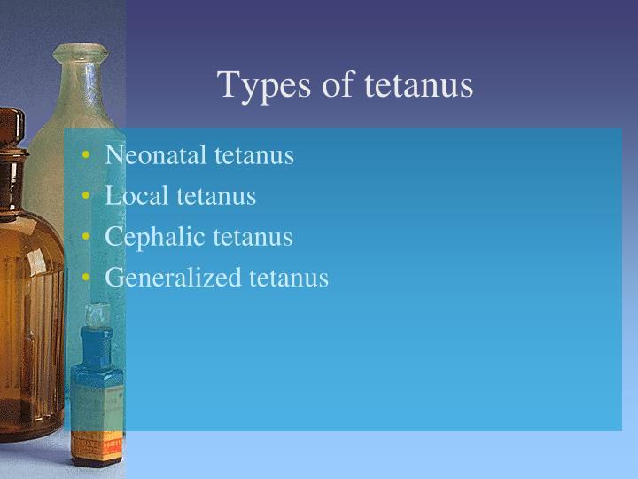 Types of tetanus