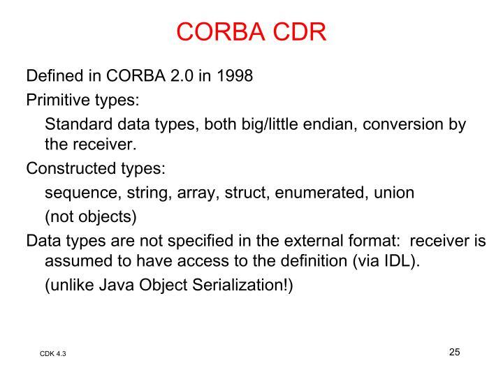 CORBA CDR
