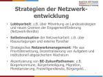 strategien der netzwerk entwicklung