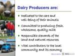 dairy producers are