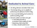 dedicated to animal care