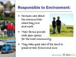 responsible to environment