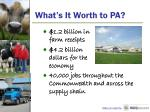 what s it worth to pa