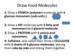 draw food molecules