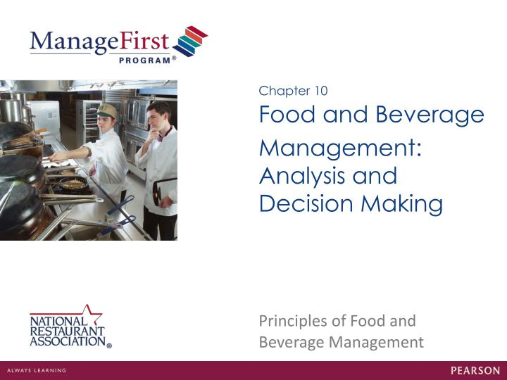 ratio analysis in food and beverage Check your food cost a vital ratio - key to the success of any restaurant as it directly impacts profitability  period for analysis the food sales and costs.