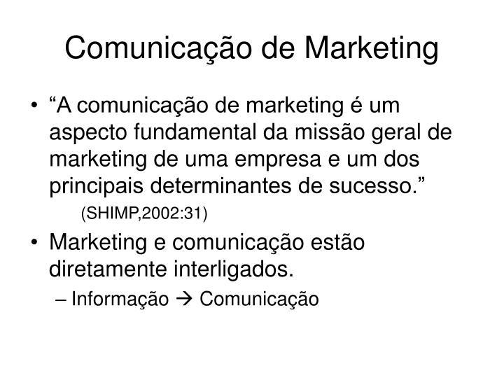 Comunica o de marketing