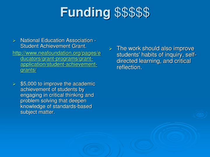 National Education Association - Student Achievement Grant.