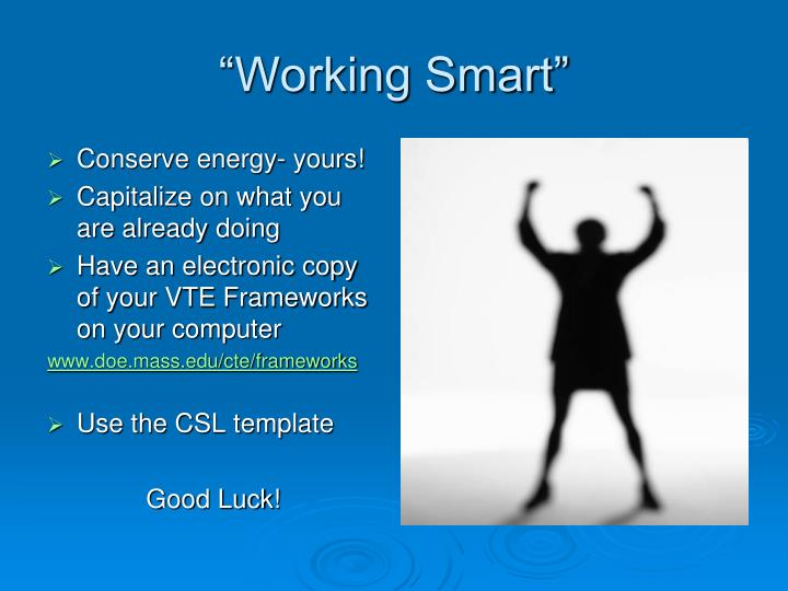 Conserve energy- yours!