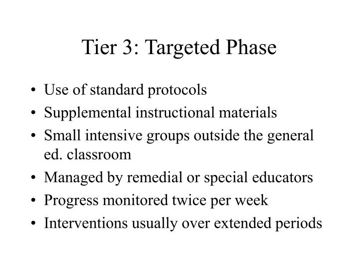Tier 3: Targeted Phase
