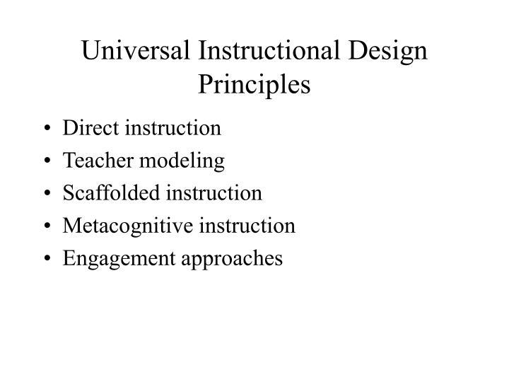 Universal Instructional Design Principles