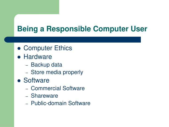 Being a Responsible Computer User